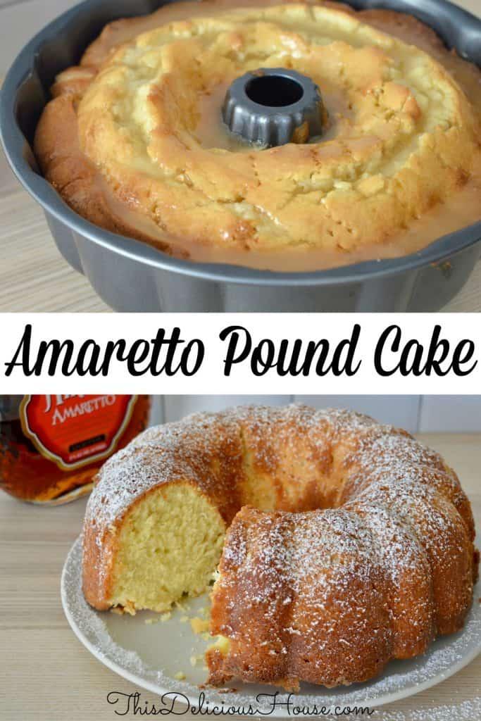 Amaretto Pound Cake Pinterest Pin