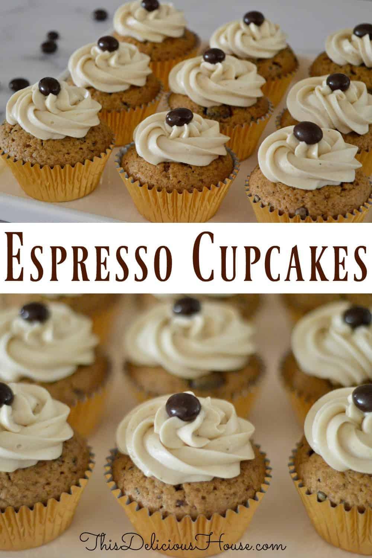 Espresso Cupcakes Pinterest Pin.