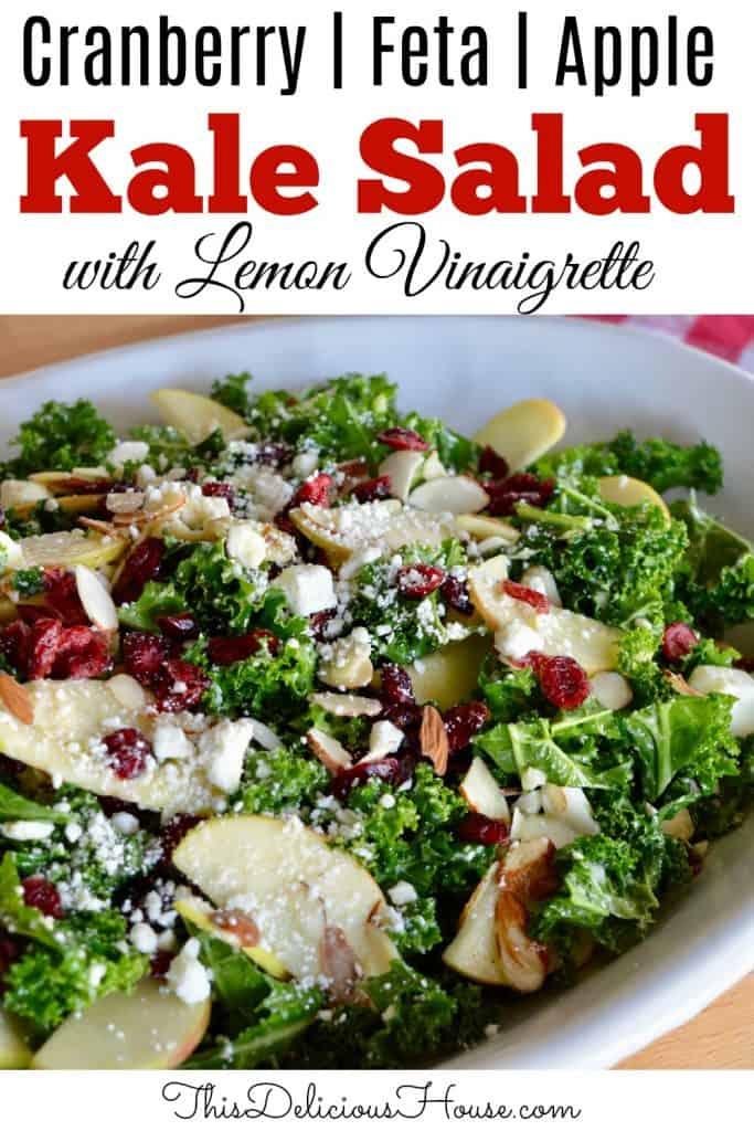 Kale Cranberry Feta Salad