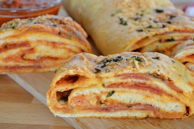 Italian Stromboli Recipe | Salami & Mozzarella