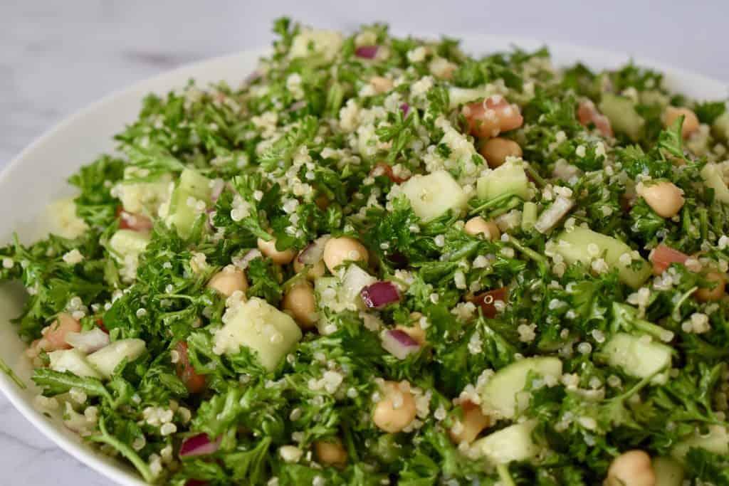 Parsley Quinoa Chickpea Salad