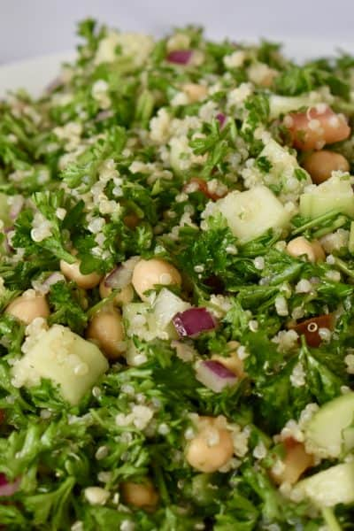 Parsley Quinoa Chickpea Salad