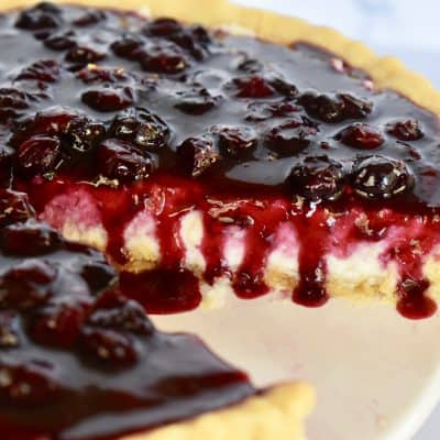 Blueberry Lemon Mascarpone Tart