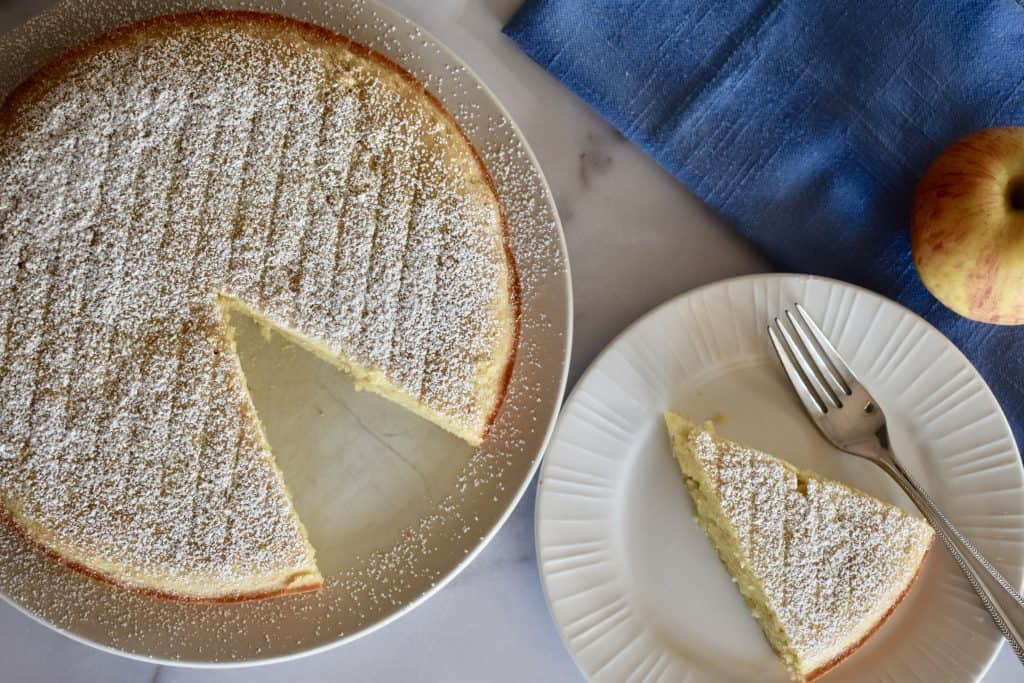 overhead photo of Almond Flour Apple Cake.