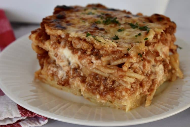 Baked Spaghetti with Ground Turkey