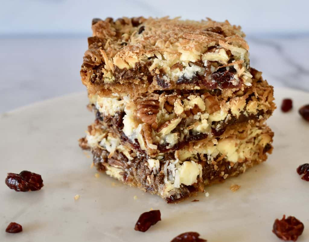 Cranberry magic bars.