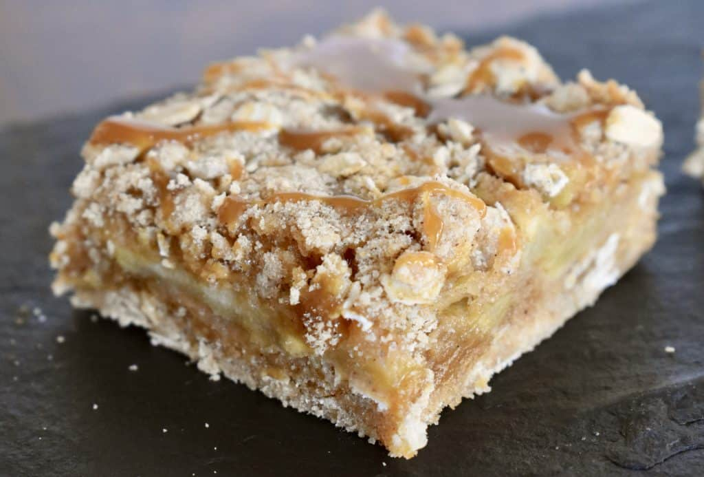 Fresh apple caramel squares.