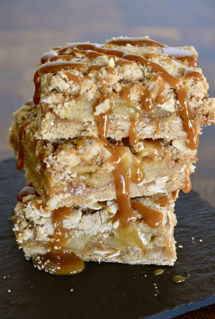 Fresh Caramel Apple Squares